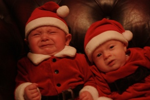 Christmassed out--Evanny and Marco have had enough of the hype (and the Thanksgiving photo-shoot!)