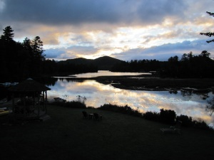 Sunrise clouds at Lake Placid, where we had a brief day-and-a-half romantic pre-baby retreat.