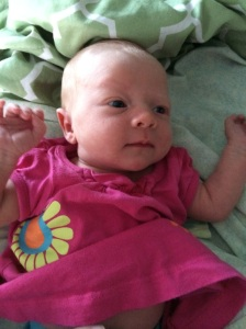 Bright-eyed (in Darcy's already-outgrown clothes), and those getting bluer every day.